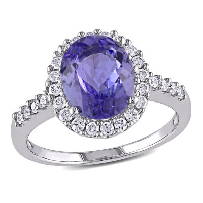 Purple Tanzanite 14K Gold Engagement Ring