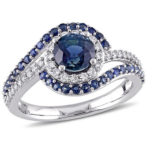 Blue Sapphire 14K Gold Engagement Ring