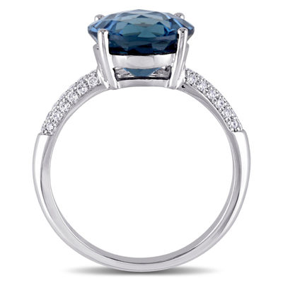 Blue Topaz 14K Gold Engagement Ring