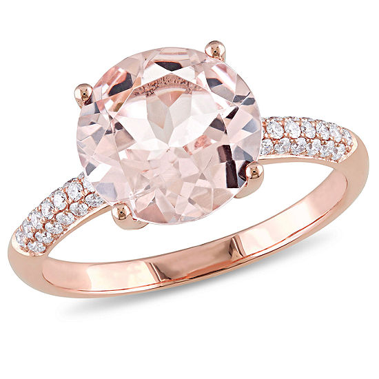 Pink Morganite 14K Gold Engagement Ring