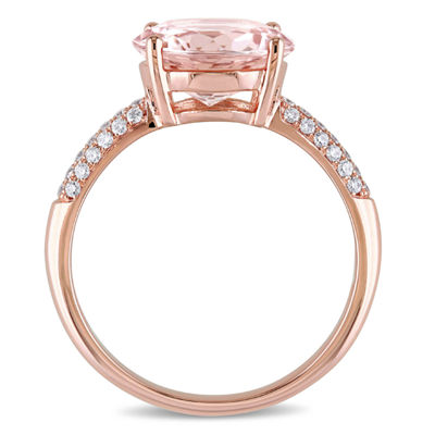 Pink Morganite 14K Gold Engagement Ring