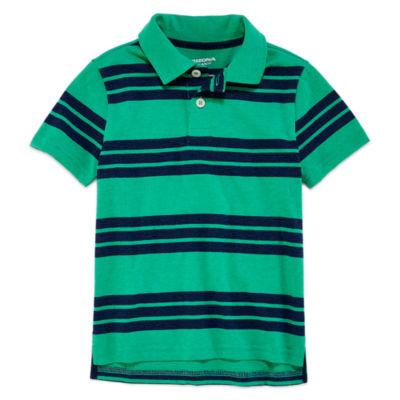 Arizona Short Sleeve Stripe Pique Polo Shirt - Preschool Boys
