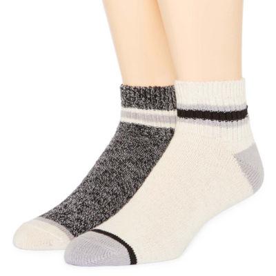St. John's Bay® Mens 2-pk. Casual Comfort Quarter Socks