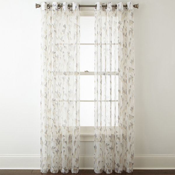 Home Expressions Shiloh Grommet-Top 2-Pack Curtain Panels