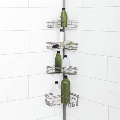 Zenna Home Tension Corner Shower Caddy