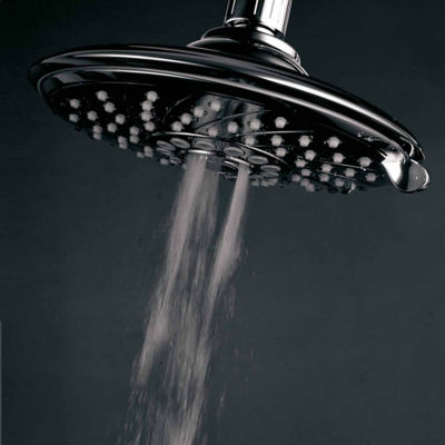 "HotelSpa® Resort Collection Ultra-luxury 6-Setting 6"" Spiral Rainfall Shower Head / Premium Chrome"