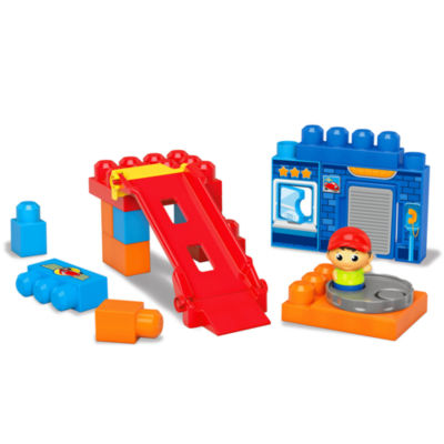 Mega Bloks Spin 'n Play Spinning Garage Playset