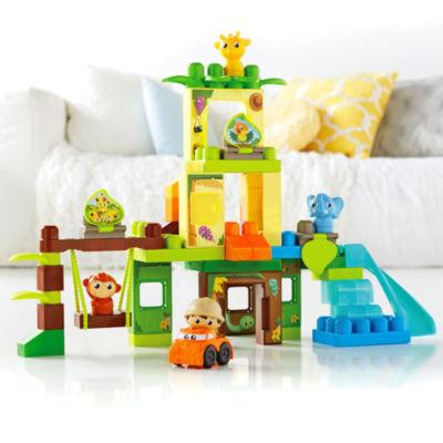 Mega Bloks First Builders Swing & Slide Safari Building Set