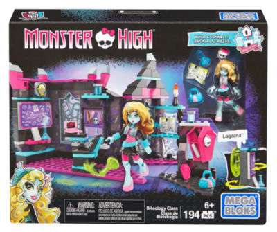 Mega Bloks Monster High Mad Biteology Class Building Set