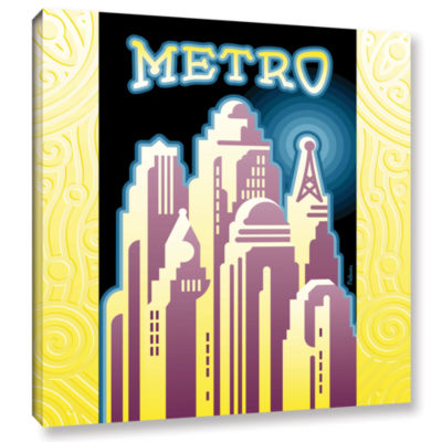 Brushstone Metro Gallery Wrapped Canvas Wall Art