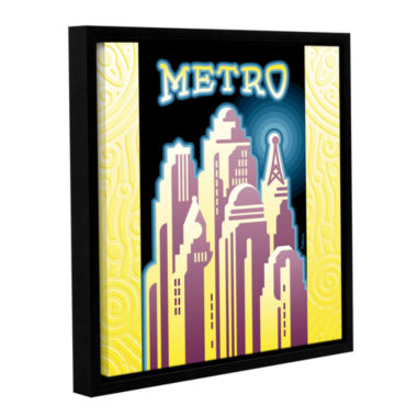 Brushstone Metro Gallery Wrapped Floater-Framed Canvas Wall Art