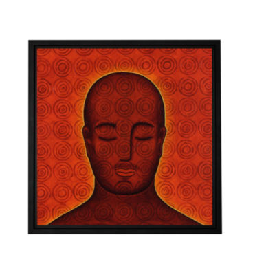 Brushstone Mind Circles Gallery Wrapped Floater-Framed Canvas Wall Art