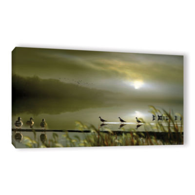 Brushstone Misty Shores Gallery Wrapped Canvas Wall Art