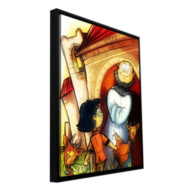 Brushstone Monk Gallery Wrapped Floater-Framed Canvas Wall Art