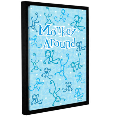 Brushstone Monkey Around Gallery Wrapped Floater-Framed Canvas Wall Art