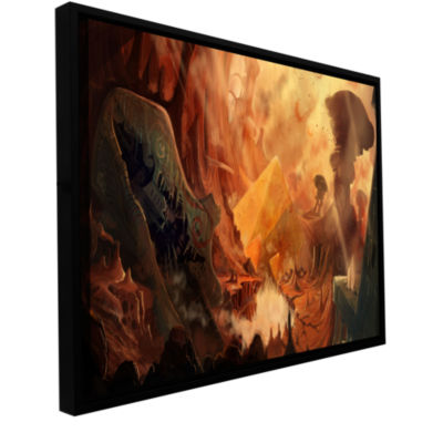 Brushstone Monuments Of Mars Gallery Wrapped Floater-Framed Canvas Wall Art