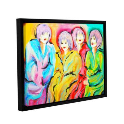 Brushstone Mood Swings Gallery Wrapped Floater-Framed Canvas Wall Art