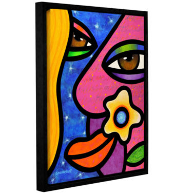 Brushstone Morning Gloria Gallery Wrapped Floater-Framed Canvas Wall Art