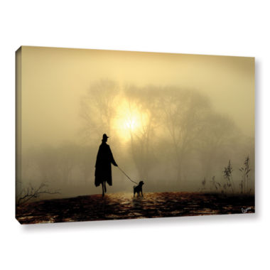 Brushstone Morning Mist Gallery Wrapped Canvas Wall Art