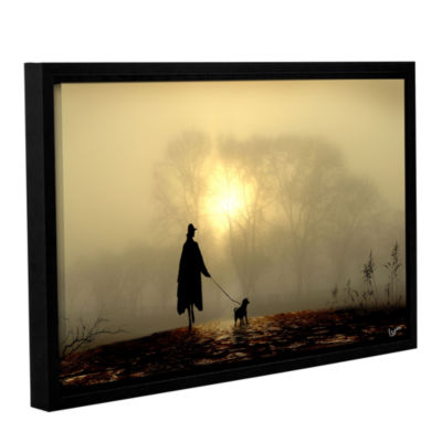 Brushstone Morning Mist Gallery Wrapped Floater-Framed Canvas Wall Art