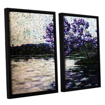 Brushstone Morning Reflections 2-pc. Floater Framed Canvas Wall Art