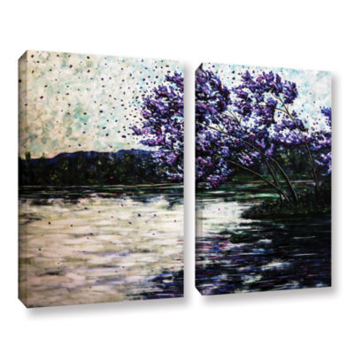 Brushstone Morning Reflections 2-pc. Gallery Wrapped Canvas Wall Art