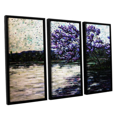 Brushstone Morning Reflections 3-pc. Floater Framed Canvas Wall Art