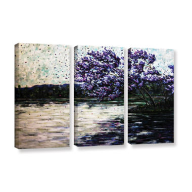 Brushstone Morning Reflections 3-pc. Gallery Wrapped Canvas Wall Art
