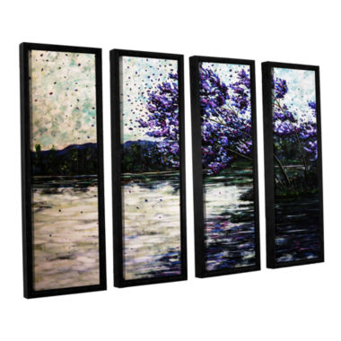Brushstone Morning Reflections 4-pc. Floater Framed Canvas Wall Art