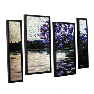 Brushstone Morning Reflections 4-pc. Floater Framed Staggered Canvas Wall Art