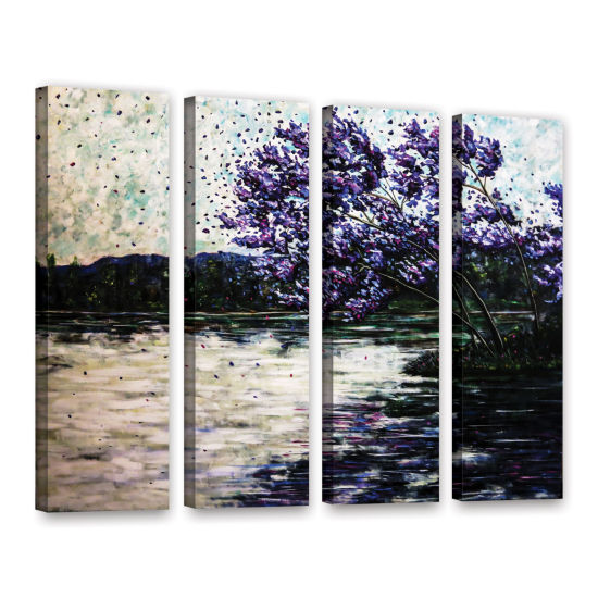Brushstone Morning Reflections 4-pc. Gallery Wrapped Canvas Wall Art