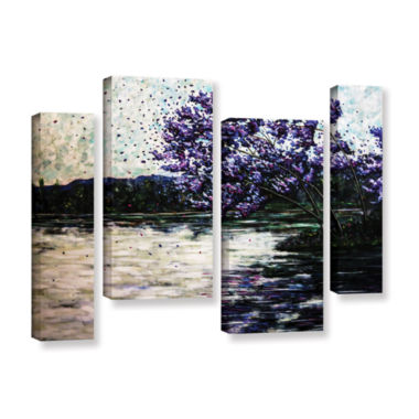 Brushstone Morning Reflections 4-pc. Gallery Wrapped Staggered Canvas Wall Art
