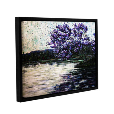 Brushstone Morning Reflections Gallery Wrapped Floater-Framed Canvas Wall Art