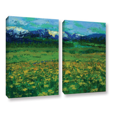 Brushstone Mountain Meadow (Wildflowers) 2-pc. Gallery Wrapped Canvas Wall Art
