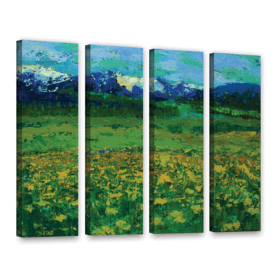 Brushstone Mountain Meadow (Wildflowers) 4-pc. Gallery Wrapped Canvas Wall Art