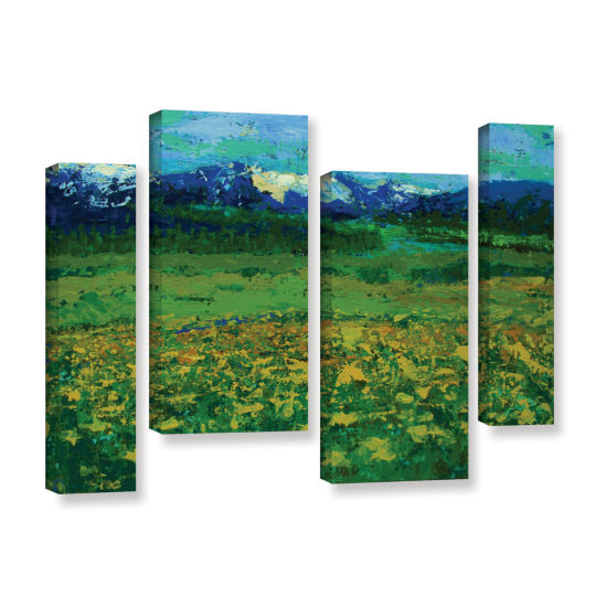 Brushstone Mountain Meadow (Wildflowers) 4-pc. Gallery Wrapped Staggered Canvas Wall Art