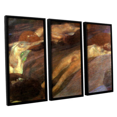 Brushstone Moving Water 3-pc. Floater Framed Canvas Wall Art