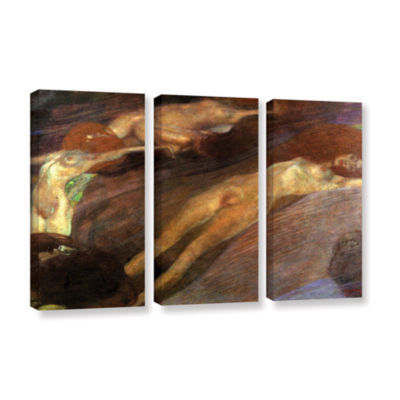 Brushstone Moving Water 3-pc. Gallery Wrapped Canvas Wall Art