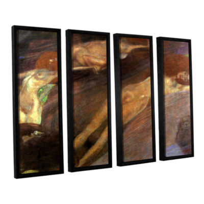 Brushstone Moving Water 4-pc. Floater Framed Canvas Wall Art