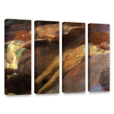 Brushstone Moving Water 4-pc. Gallery Wrapped Canvas Wall Art