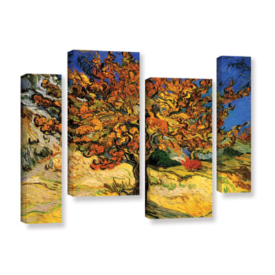 Brushstone Mulberry Tree 4-pc. Gallery Wrapped Staggered Canvas Wall Art