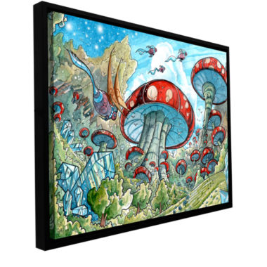 Brushstone Mushroom Forest Gallery Wrapped Floater-Framed Canvas Wall Art