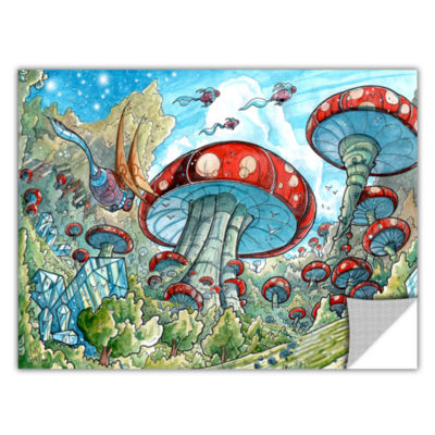 Brushstone Mushroom Forest Removable Wall Decal
