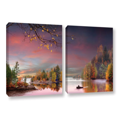 Brushstone Muskoka Life 2-pc. Gallery Wrapped Canvas Wall Art