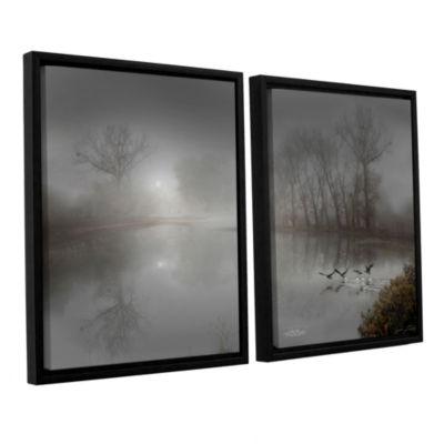 Brushstone Mystic Fog 2-pc. Floater Framed CanvasWall Art