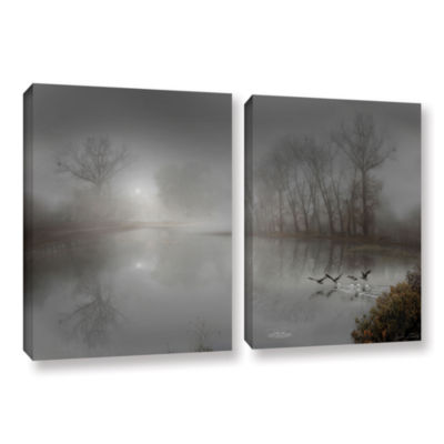Brushstone Mystic Fog 2-pc. Gallery Wrapped CanvasWall Art