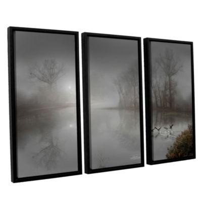 Brushstone Mystic Fog 3-pc. Floater Framed CanvasWall Art