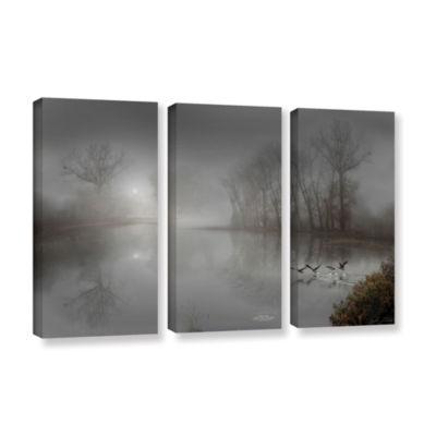 Brushstone Mystic Fog 3-pc. Gallery Wrapped CanvasWall Art