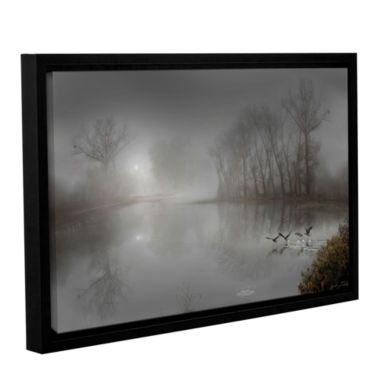 Brushstone Mystic Fog Gallery Wrapped Floater-Framed Canvas Wall Art