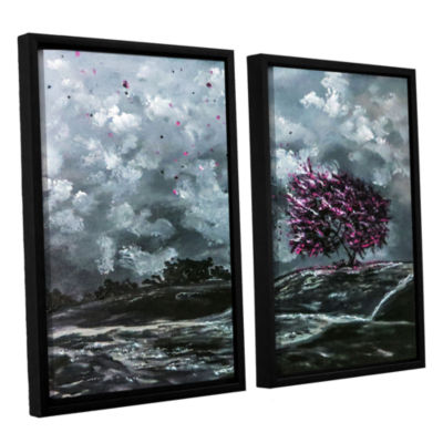 Brushstone Shivers 2-pc. Floater Framed Canvas Wall Art